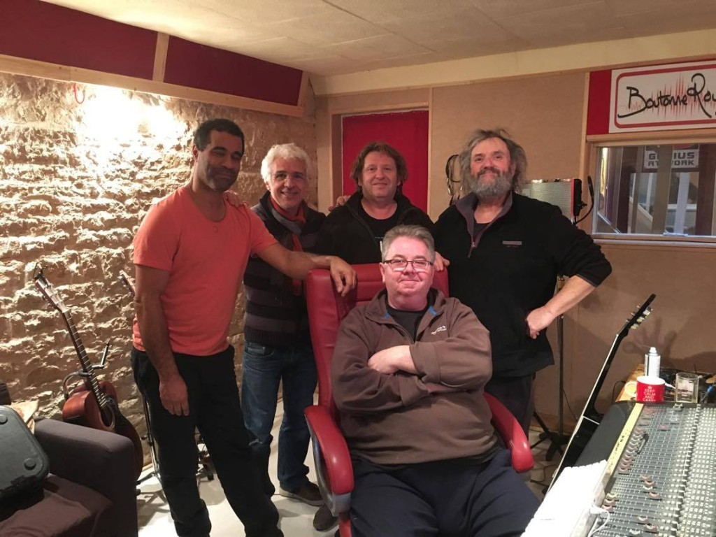 Ronnie's band in the studio 1