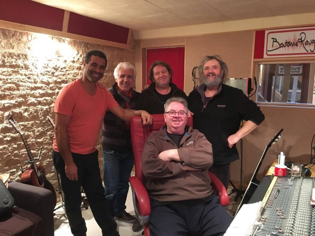 Ronnie's band in the studio 2