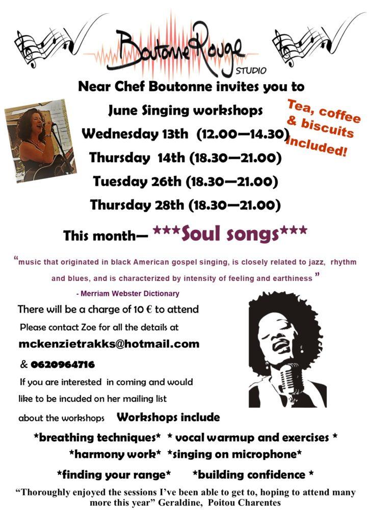 singing workshop flyer June 18