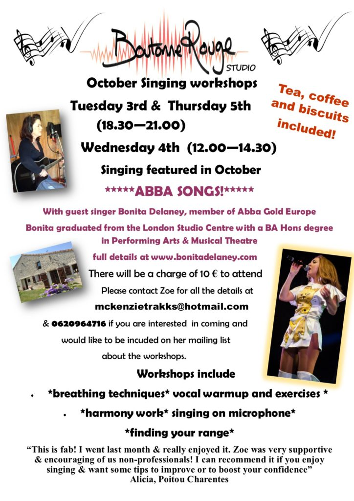 singing workshop flyer October